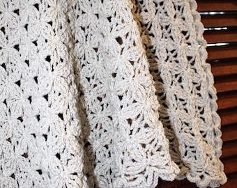 Crochet Embossed Flower Triangular  Shawl INSTANT DOWNLOAD PDF from Thomasina Cummings Designs