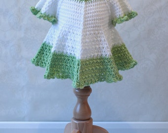 Crochet Summer Dress with Full Circle Skirt & Cap Sleeves INSTANT DOWNLOAD PDF From Thomasina Cummings Designs