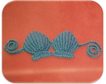 Crochet Shell Bikini Top  Photo Prop INSTANT DOWNLOAD PDF by Thomasina Cummings Designs