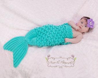 Crochet Mermaid Tail & Headband Prop INSTANT DOWNLOAD PDF from Thomasina Cummings Designs
