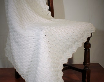Crochet Blanket - Honeycomb Stitch with Ripple Edging -- INSTANT DOWNLOAD PDF from Thomasina Cummings Designs