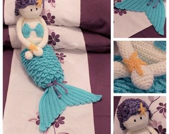 Crochet Mermaid Nightie Case or Doll INSTANT DOWNLOAD PDF from Thomasina Cummings Designs