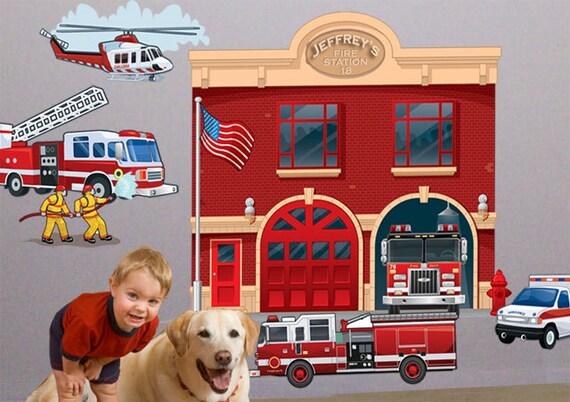Fire Department Wall Mural