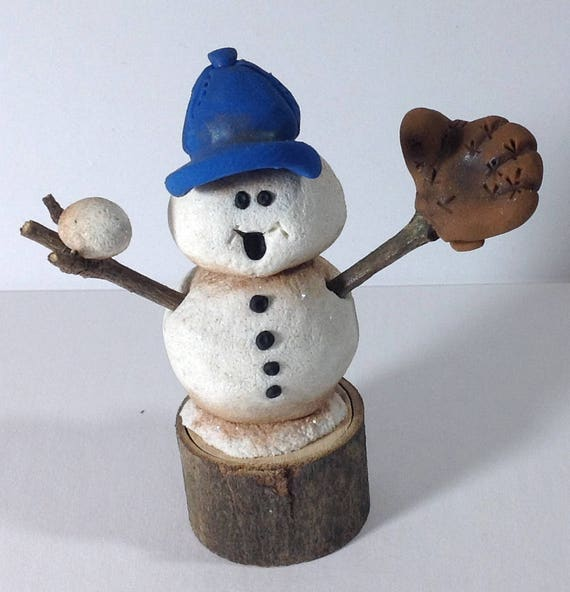 Mike The Snowman Hand Made Ooak Original Polymer Clay Etsy