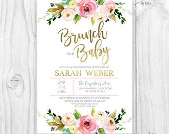 521a15712a3 Baby shower Invitation girl