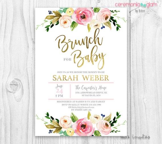 baby shower invitation girl brunch for baby invitation girl baby