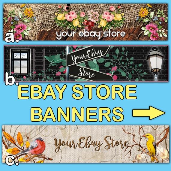 Ebay Store Banners Premade Ebay Banner Shop Ebay Ebay Etsy