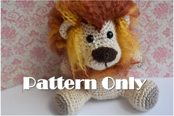 Amigurumi Lion Pattern Crochet Pattern Lion Plush Toy Baby Etsy