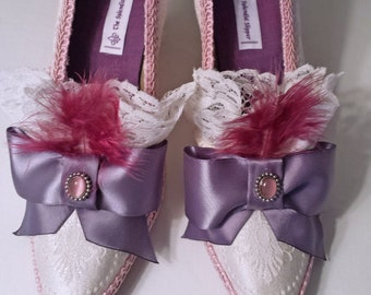 TO ORDER - Custom Embellished Shoes - Rococo Pumps Fancy Dress Shoes