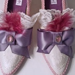 Custom Embellished Shoes TO ORDER ONLY - Rococo Pumps Fancy Dress Shoes