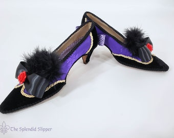 TO ORDER - Custom-Decorated Wing-Tip Cosplay Shoes - Rococo Marie Antoinette Pumps