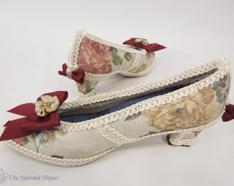 READY TO SHIP - Rose Damask Embellished Shoes Rococo Heels