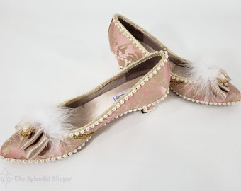 TO ORDER - Custom Embellished Shoes - Rococo Marie Antoinette Fancy Dress Pumps