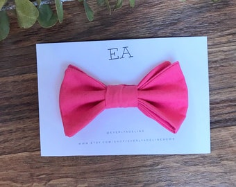 Button on bow tie. Baby boy bow tie. Toddler bow tie.