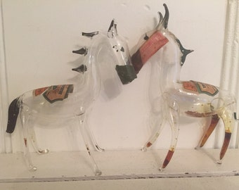 Creme De Menthe Miniature Hand Blown Horses