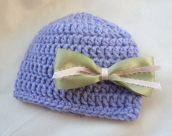 Newborn baby girl hospital hat