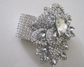 Crystal Rhinestone Cuff Brooch Bracelet Wrist Corsage Bride Bridesmaid  Mother of the Bride Prom Accessories Bridal Wedding Custom Order a06ac3024b76