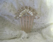 Gorgeous Refashioned Pearl and Rhinestone Bridal Hair Comb Wedding Accessories Bridal Clips Hair Combs Bridal Accessries