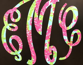 Lilly Pulitzer Print Inspired Monogram Magnet