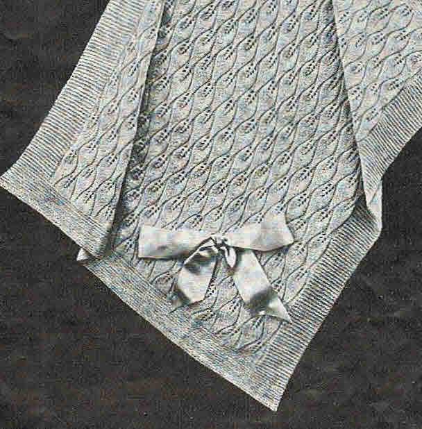 Leaf Pattern Pram Cover Or Baby Blanket Epattern Classic 40s Etsy