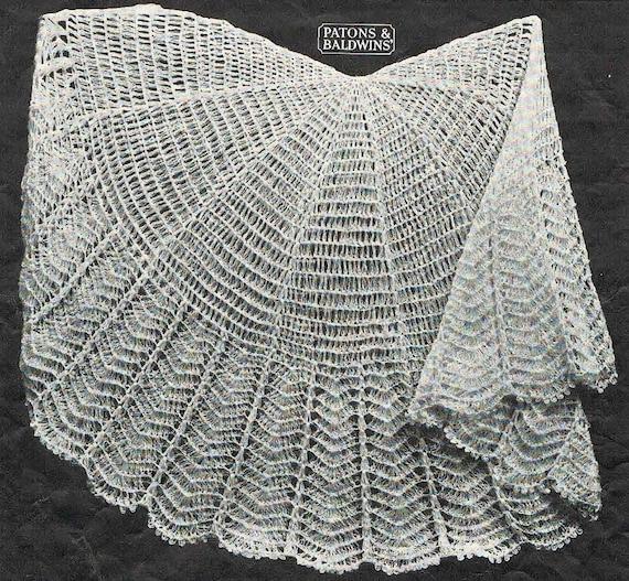 40s Style Circular Crochet Baby Shawl Pattern Australian Etsy