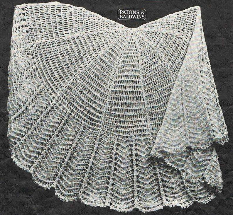 88739327e 40s style circular crochet baby shawl pattern Australian