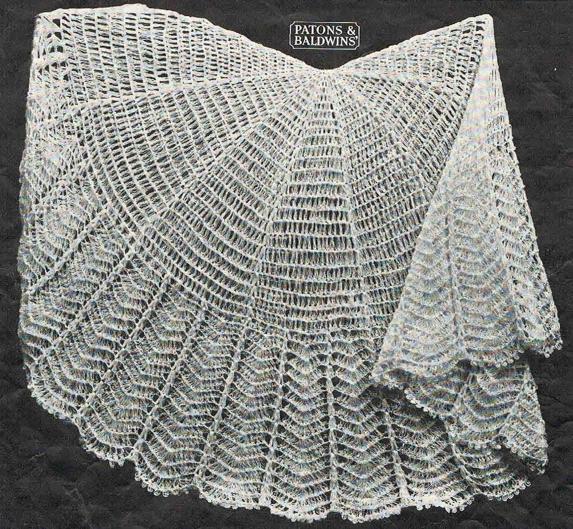 40s Style Circular Crochet Baby Shawl Pattern Australian