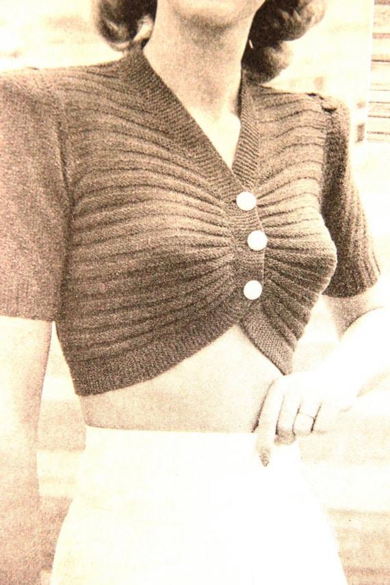 Items similar to Hello Sailor- 1940s Knitting Pattern ...