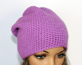 79769f3110b Crochet beanie slouchy - Hat Unisex knitted - hat Teen beanie Oversized  -Unisex slouchy Knitted beanie. Slouchy Beanie Hat. In many colours