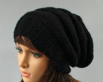 6710788ec55 Hand knitted unisex slouchy beanie. A lovely hat for men and women  available in many colours.