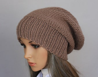Autumn Accessories-Slouchy Beanie Women Hat- Mens Slouchy knit hat -  Oversized Hat - Chunky Knit - Mens Slouchy knit hat- In many colours. af7eedca03b