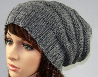 ad3cc842b1f Hand knitted ladies slouchy beanie. Super chunky hat. A lovely hat  available in many colours.