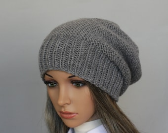 c9ed462a7ca Accessories-Slouchy Beanie Women Hat- Mens Slouchy knit hat - Oversized Hat  - Chunky Knit - Mens Slouchy knit hat-Sacking Winter Hat