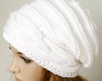 98c934e20df Knitted Hat Large women Oversized Hat winter Big Baggy Hat Winter Adult  Teen Fashion Knit Slouchy Hat winter hat big hat In many colours.