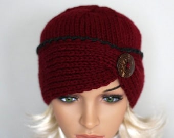 Hand knitted ladies hat. Soft and comfortable beanie for women 9db49dce07c