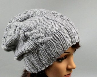 b6f0e1ea50e Hand knitted ladies hat. Soft and comfortable beanie for women