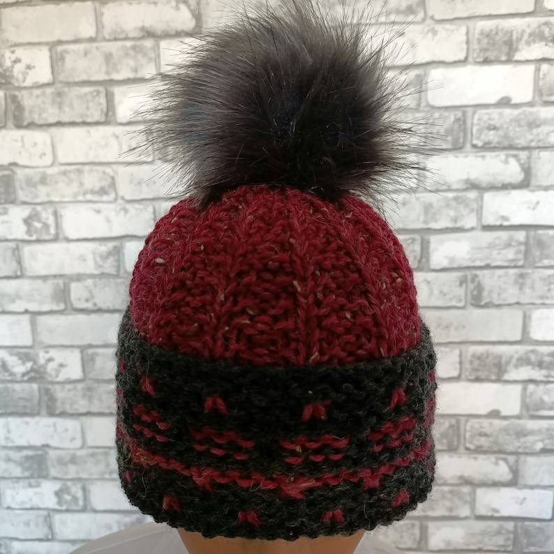 Cap with tassel. Knitted Hat Large women Oversized Hat winter Big Baggy Hat Winter