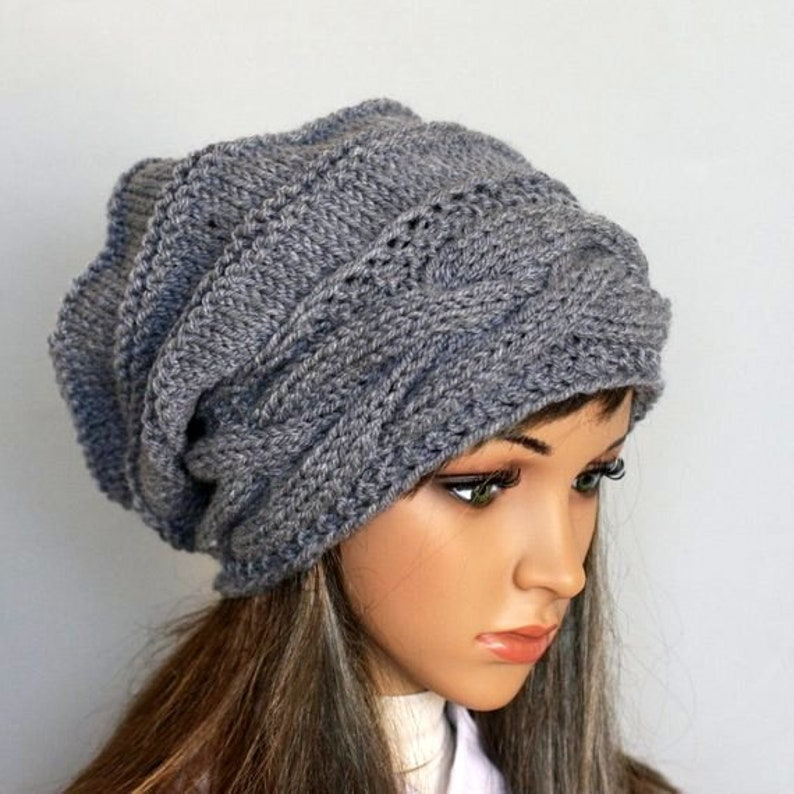 69ba2acbbd0 Knitted Hat Large women Oversized Hat winter Big Baggy Hat