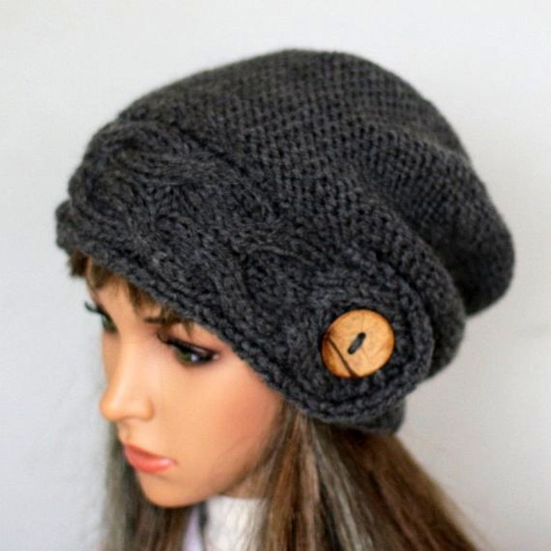 Soft and comfortable hat Hand knitted warm slouchy beanie perfect for colder seasons Available in many colours.