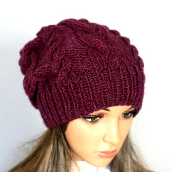 Hand knitted ladies slouchy beanie. A lovely hat available in  fbc1ca4aa01