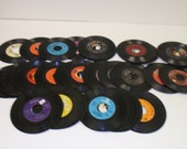 Used 7 quot 45 RPM Records For Crafting, Crafting LOT of (10) vinyl jukebox records