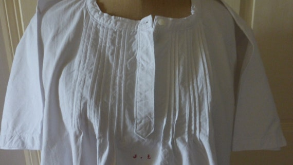 Vintage Nightgown, Chemise Nightdress,  French Cir