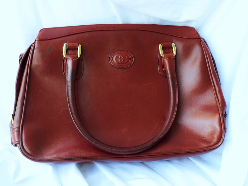 ac5f59e6d436 Vintage GUCCI Leather Purse Maroon Arm Bag | Etsy