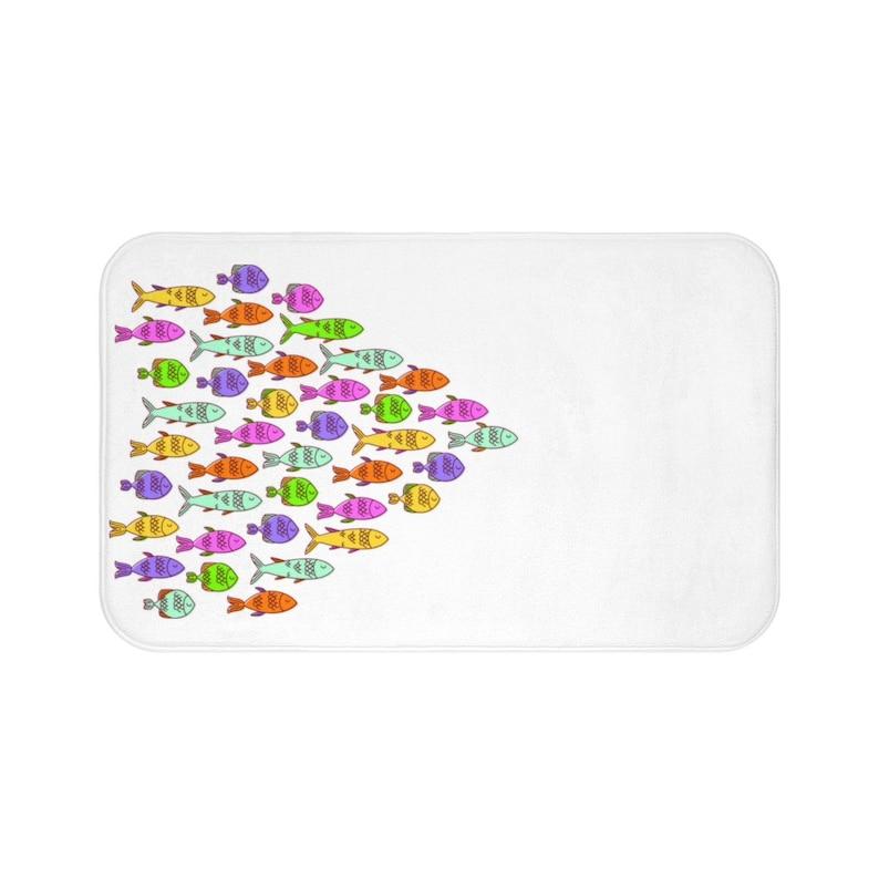shower mat bathroom mat Fish Bath Mat