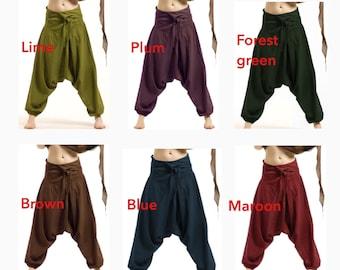 UNISEX FISHERMEN pants, yoga trousers, harem pants men, harem pants, aladdin pants, Cvtrfa