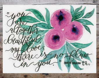 39209a723 Altogether Beautiful Print - Song Of Solomon 4:7