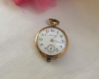 Watch - Pocket Watch - Hampden - Antique - Free Shipping