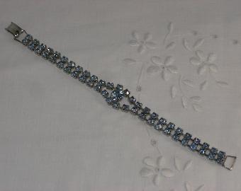 Bracelet - Blue Rhinestones - Something Blue - Vintage