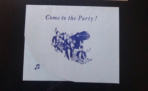 Vintage Party Invitations 1920s Party Invitations Big Band Etsy