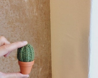 cactus, handknitted, wool, pincushion cactus, office decoration, knit cactus